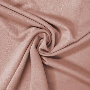 Tissu crêpe satiné vieux rose