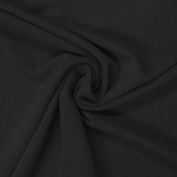 Tissu crêpe satiné noir