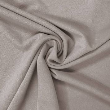 Tissu crêpe satiné gris