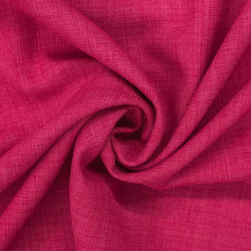 Tissu aspect lin fuchsia