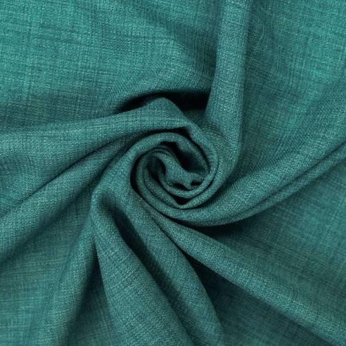 Tissu aspect lin bleu aqua