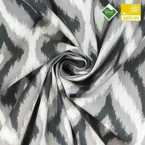 Toile téflon imprimée losange gris