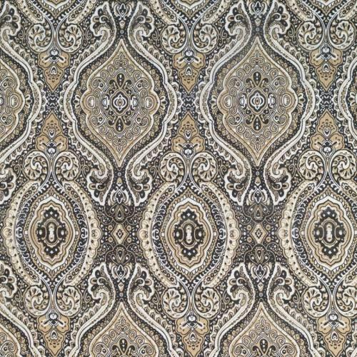 Mousseline crêpe sable motif mandala cachemire