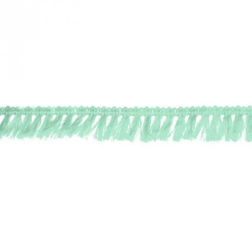 Galon à franges 27mm vert menthe