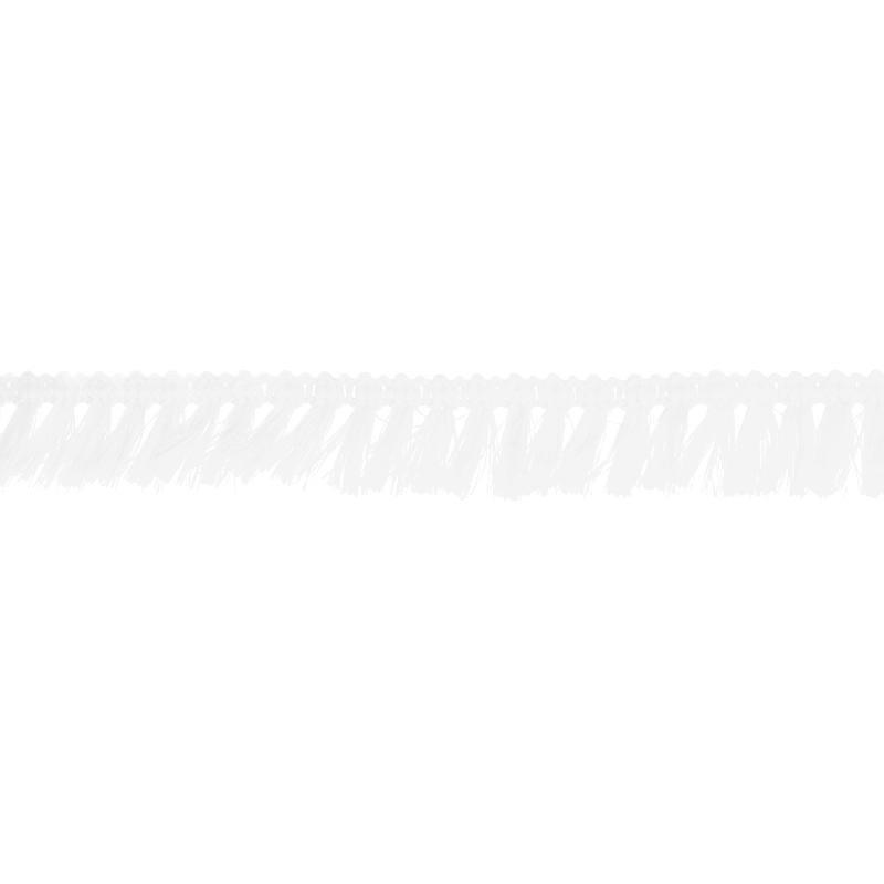 Galon à franges 27mm blanc