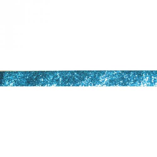 Galon pailleté bleu 25mm