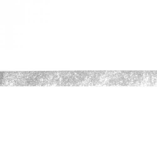 Galon pailleté gris mat 25mm