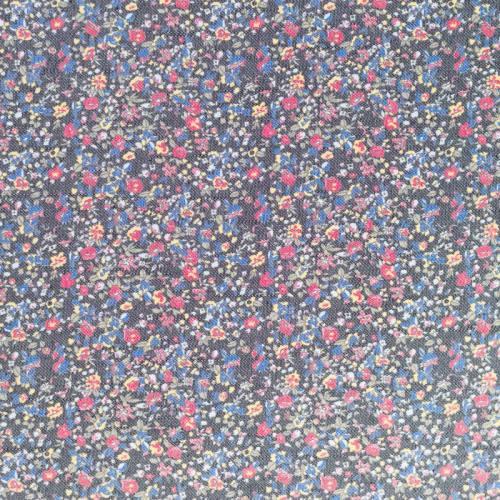 Tissu jean fleuri vintage
