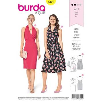 Patron Burda 6421 : Robe Taille 34-44