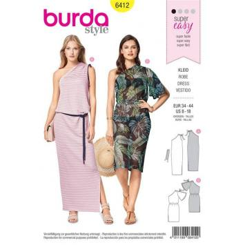 Patron Burda 6412 : Robe Taille 34-44