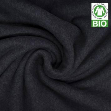 Polaire bio gris foncé 100% coton