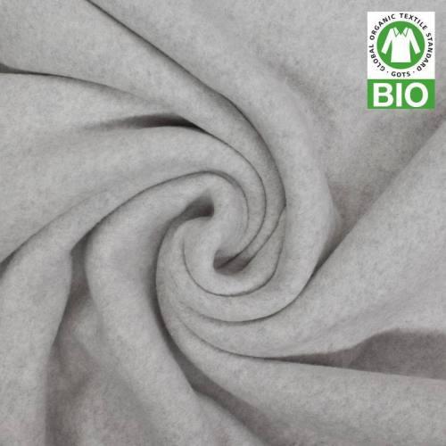 Polaire bio gris souris 100% coton