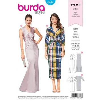 Patron Burda 6442 : Robe Taille 34-44