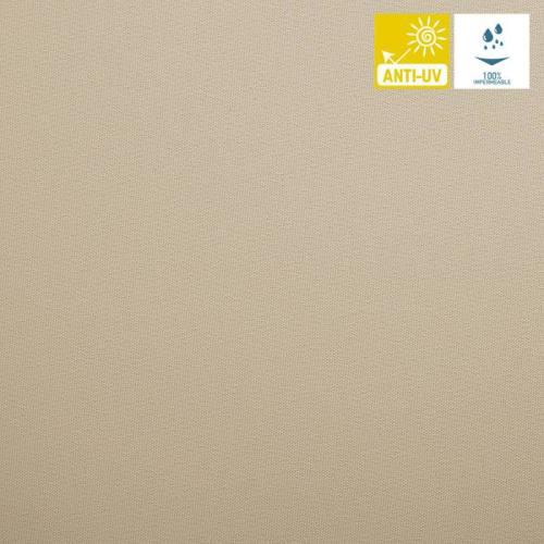 Tissu imperméable jet beige