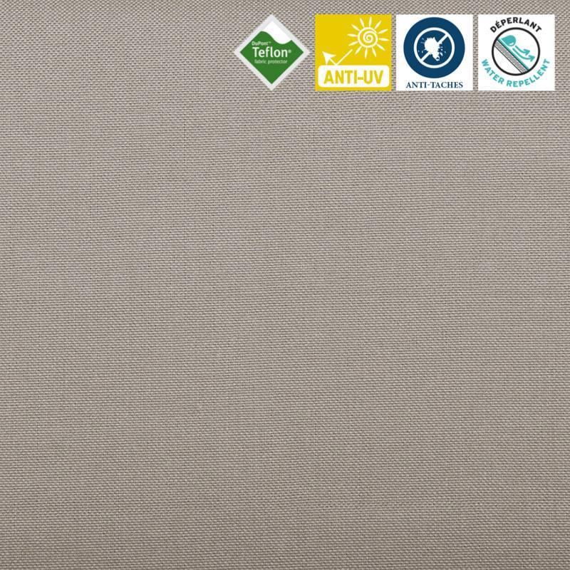 Toile extérieure Téflon grande largeur unie grise