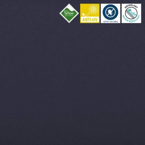 Toile extérieure Téflon grande largeur unie bleu marine