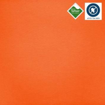 Tissu enduit orange