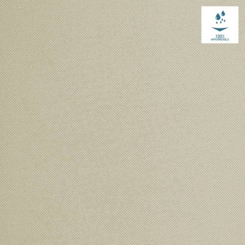 Tissu imperméable beige