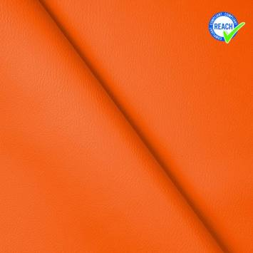 Simili cuir uni green orange