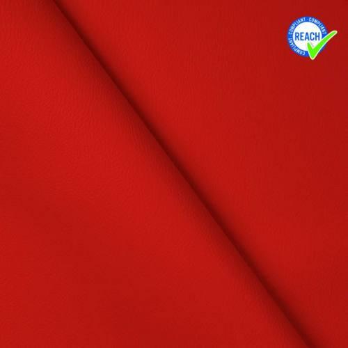 Simili cuir uni green rouge