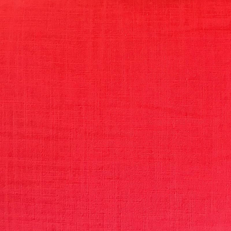 coton aspect lin rouge pas cher tissus price. Black Bedroom Furniture Sets. Home Design Ideas