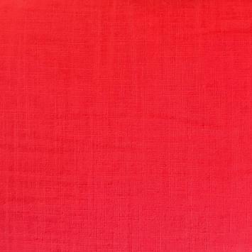 Coton aspect lin rouge