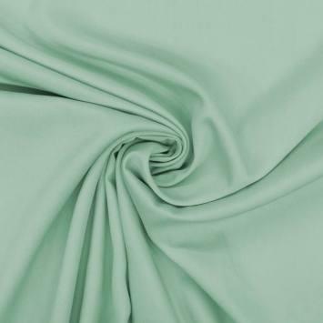 Tissu viscose twill vert d'eau