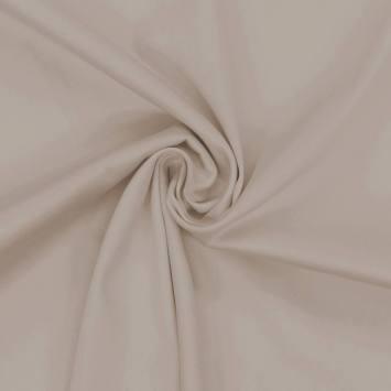 Coton satiné stretch grège