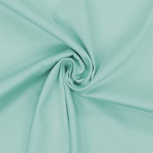 Coton satiné stretch vert menthe