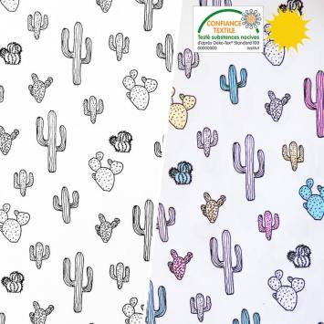 Jersey magique motif cactus