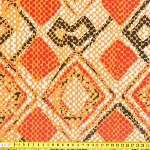 Wax - Tissu africain losange rouge 215