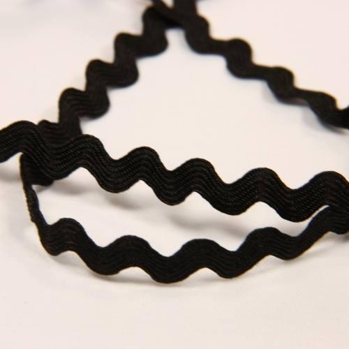 Croquet, serpentine, 6 mm noire zig-zag