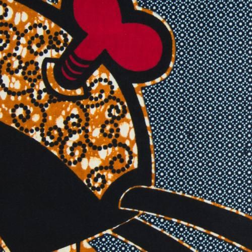 Wax - Tissu africain bleu marine motif créature mystique