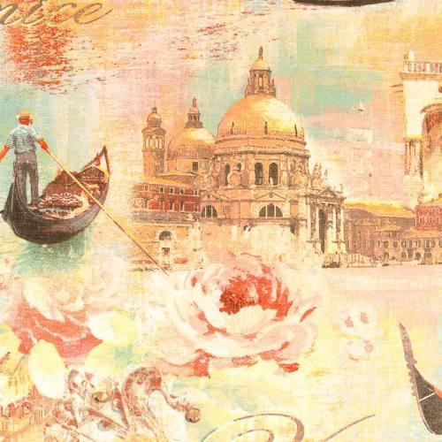 Toile impression numérique motif Venise romantique