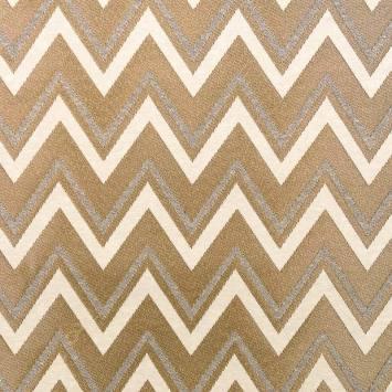 Jacquard blanc et doré motif triangle
