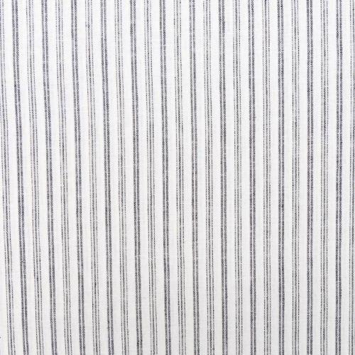 Lin viscose écru à rayures grises et noires