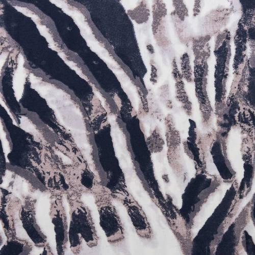 Tissu viscose stretch cendré motif relief