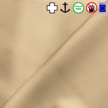 Simili cuir celeste métallisé beige