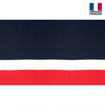 Bord-côte bleu blanc rouge 7cm