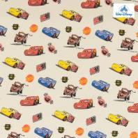 Coton Disney Pixar crème motif Cars