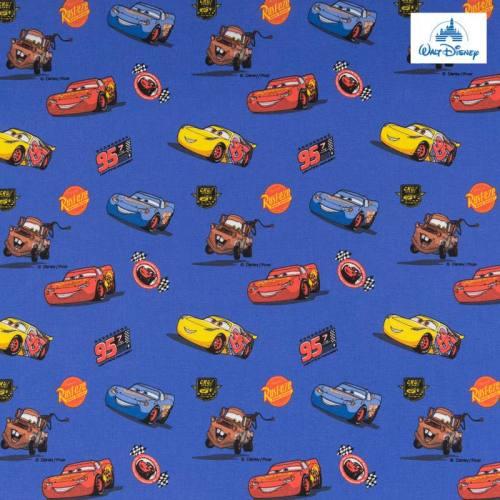 Coton Disney Pixar bleu motif Cars
