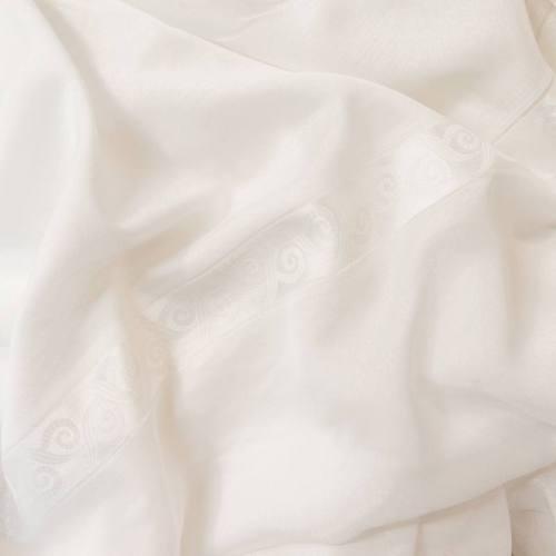 Voilage couleur soie avec frise