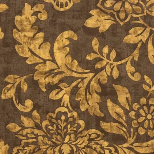 Tissu occultant brun motif floral
