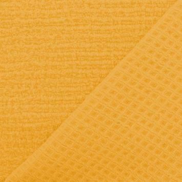 Eponge jaune blé - double face nid d'abeille
