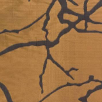Jacquard double face mordoré et anthracite motif sillage