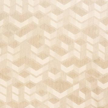 Jacquard couleur naturel motif géométrique beige