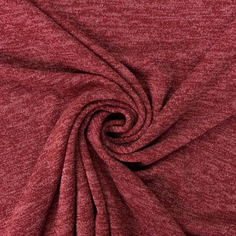 Jersey lainage brillant cerise