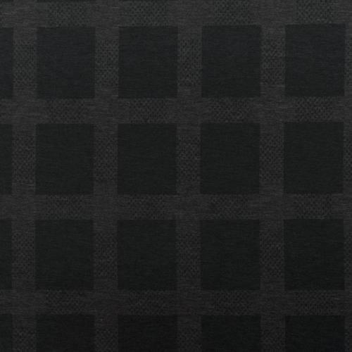 Jersey stretch noir motif carreau gris