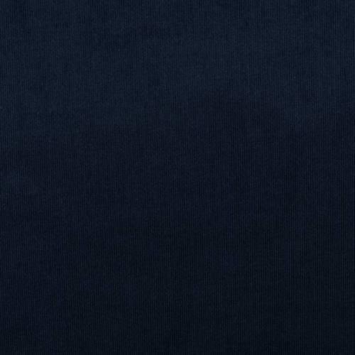 Velours côtelé uni bleu marine