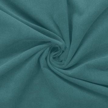 Velours côtelé uni bleu givré